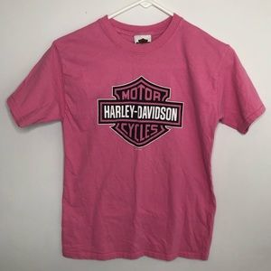 Harley Davidson Tshirt Pink girls Medium